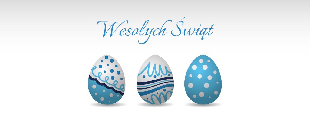 Kartka z życzeniami Wielkanocnymi.