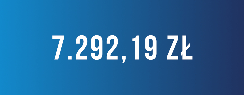 Wygrana kwota odszkodowania wyniosła 7 292 zł.