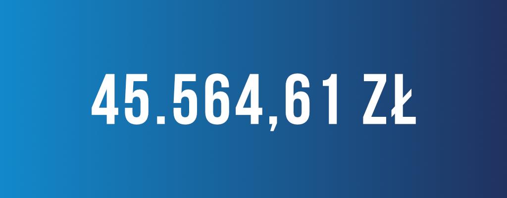 Wygrana kwota odszkodowania wyniosła 45 564 zł.