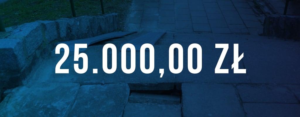 Wygrana kwota odszkodowania wyniosła 25 000 zł.
