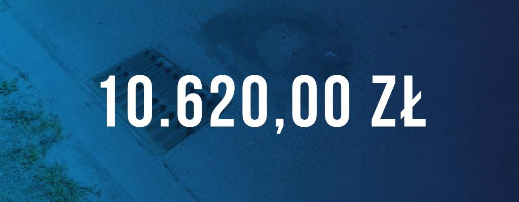 Wygrana sprawa, kwota odszkodowania wyniosła 10 620 zł.