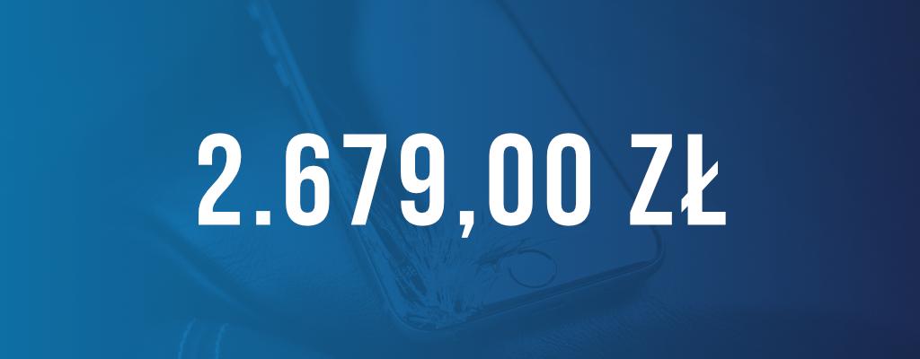 Wygrana sprawa, kwota odszkodowania wyniosła 2 679 zł.