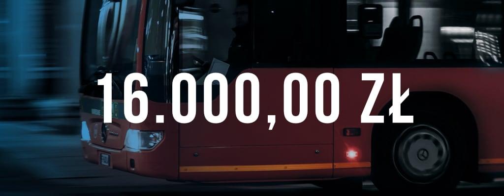 Wygrana sprawa, kwota odszkodowania wyniosła 16 000 zł.