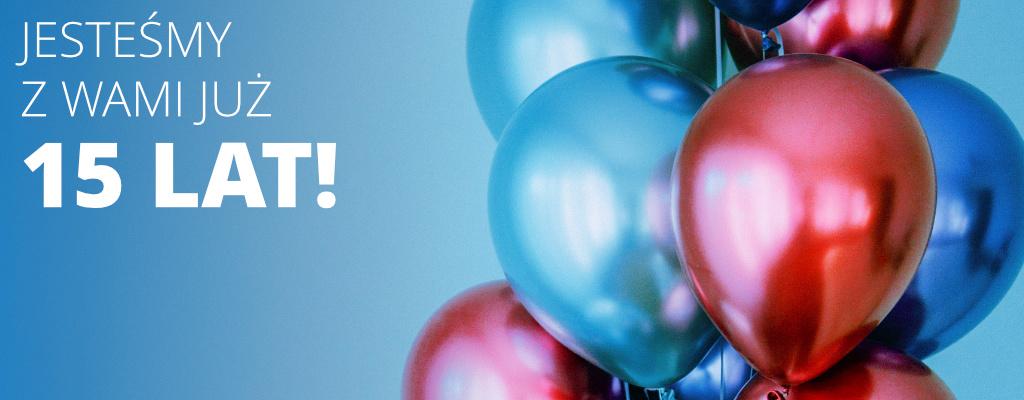 Cito 15 lat w Szczecinie, balony kolorowe