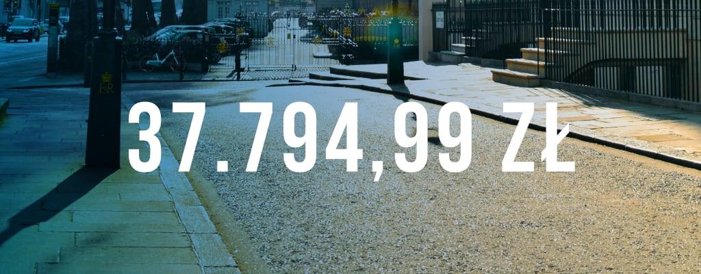 Wygrana sprawa, kwota odszkodowania wyniosła 37 794 zł.