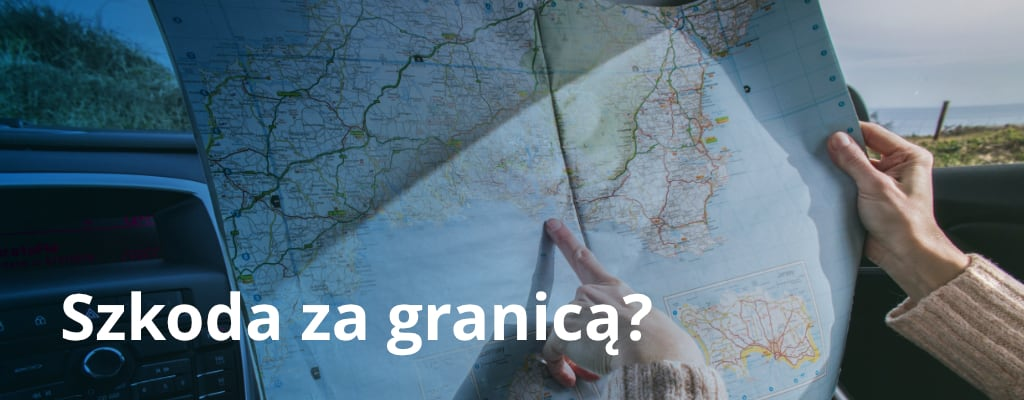 Podróż samochodem z mapą za granicą