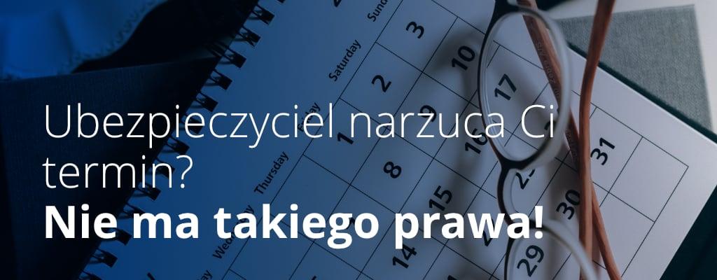 Kalendarz, okulary.