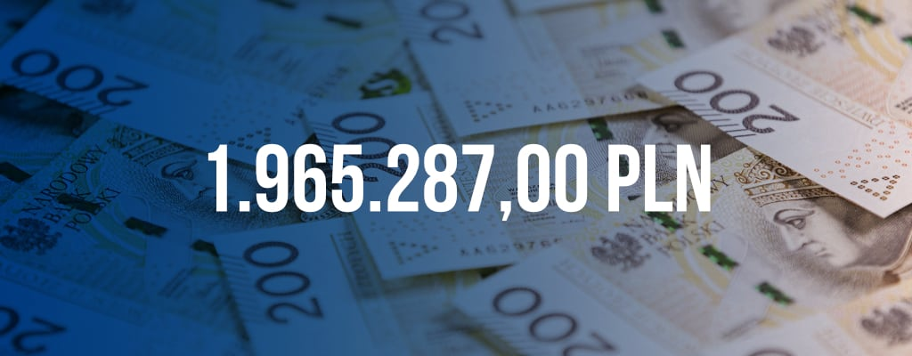 Rekordowe odszkodowanie w kwocie 1.965.287,00 PLN