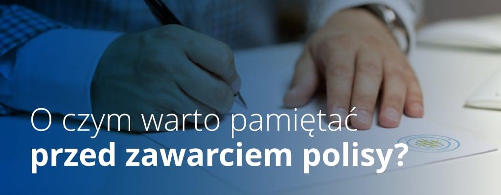Składanie podpisu na polisie ubezpieczeniowej