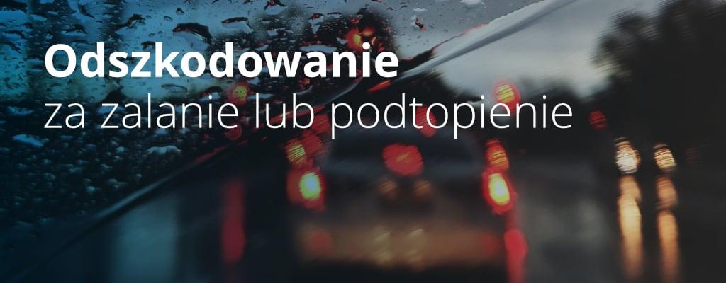 Ulica, samochody w deszczu