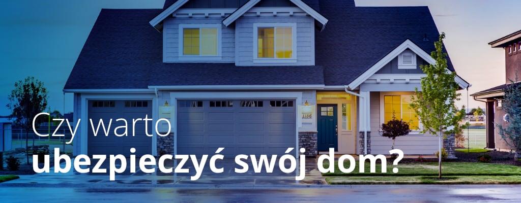 Dom z niebieskim dachem